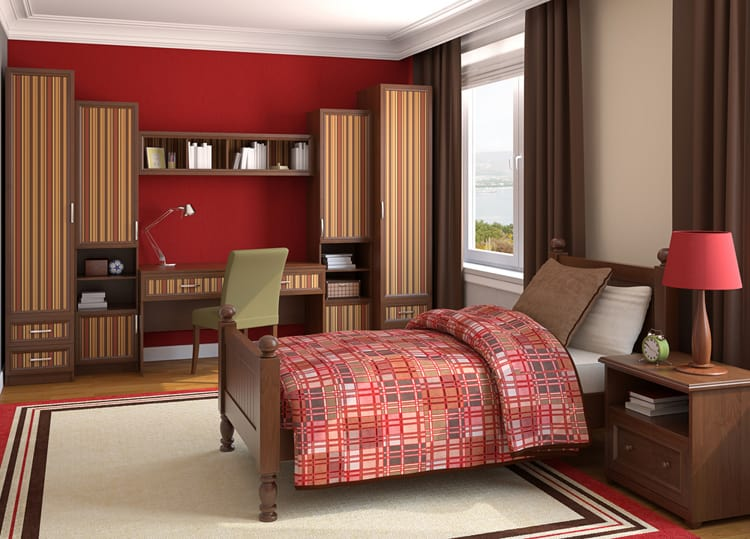 bedroom red bedrooms 11 266877542