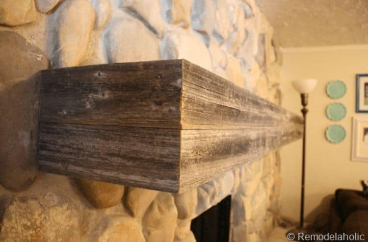 Build your own rustic mantel piece! With this project you can give your living room a great natural look that will bring the great outdoors inside.