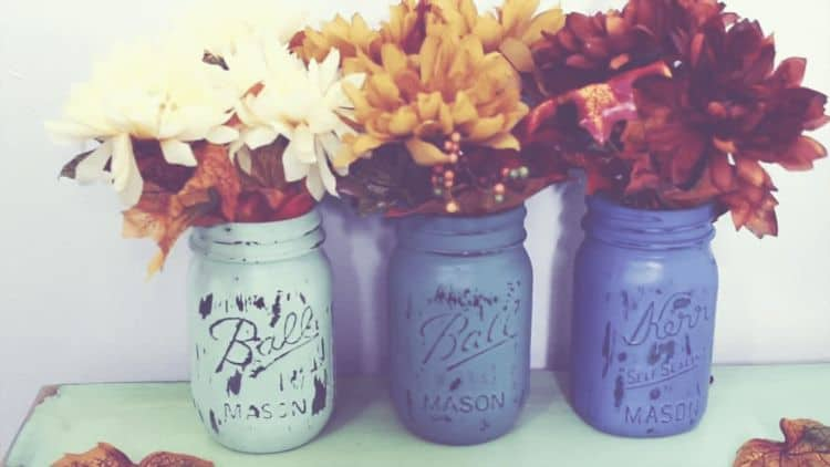 You can reuse mason jars for many projects that have many different functions. This project transforms the jars into rustic colorful planters that have lots of charm. Use this project to increase your planting space with style.