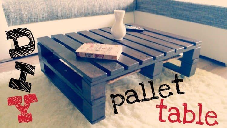 This wonderful coffee table is made from a wooden pallet. This table is very inexpensive as wooden pallets are easy to come by and acquire. With a bit of elbow grease, you can change a discarded piece of wood into a very useful and fantastic looking table.