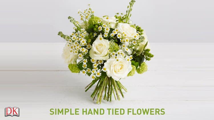 These hand tied fresh flowers make for a great design decoration as well as a wonderful bouquet. You can use any kind of flowers that you desire to make this arrangement.