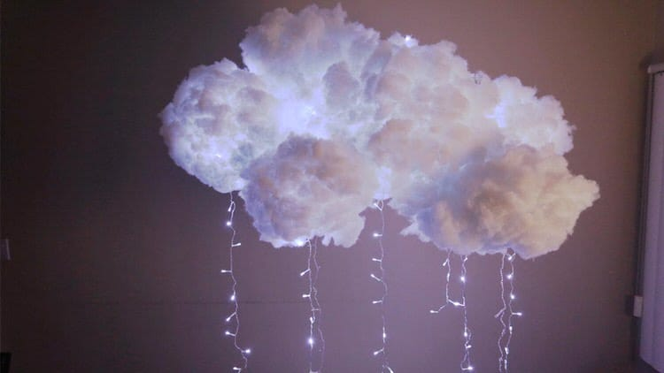 Here is a lighting feature that can be built at home to add an amazing and fun design that looks like a storm is floating through your room. Take on this project if you love atmospheric lighting with style.