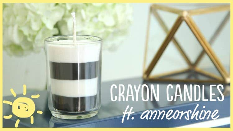This crayon candle project is a wonderful project for making your own custom candles. Choose from any design you want with a never ending combination of colors. These custom crayon candles are stylish and beautiful in any home.