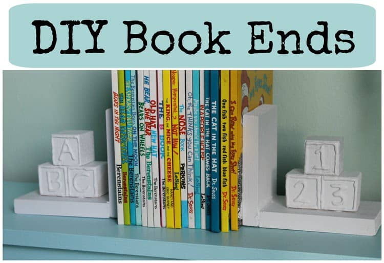 These DIY bookends tie in the nursery theme with this functional element of the shelf. Your children's favorite books will be safe and sound between these stylish and fun bookends. This project also lets you reuse items, such as blocks, that may be parts of incomplete sets and may otherwise be thrown away.
