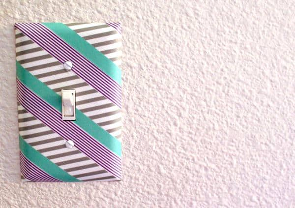 Decorative Washi tape comes in a large plethora of colors and patterns. You can use these brilliant patterns to enhance elements around your house. Here is a great project that can get your fixtures to pop and draw some fantastic visual interest.