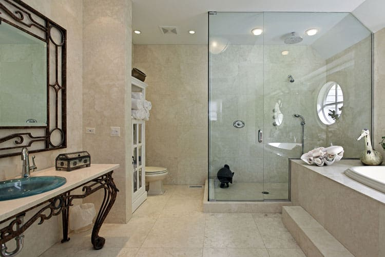 Bathrooms With Frameless Shower Doors 33