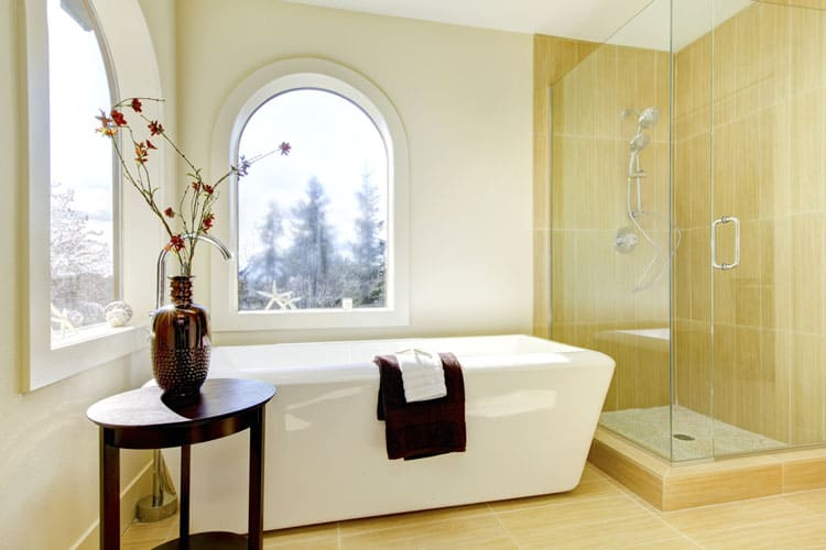 Bathrooms With Frameless Shower Doors 36