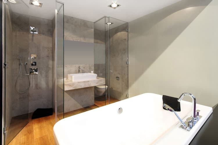 Bathrooms With Frameless Shower Doors 41