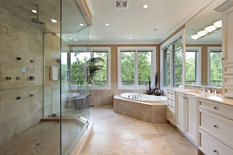 Bathrooms With Frameless Shower Doors 43