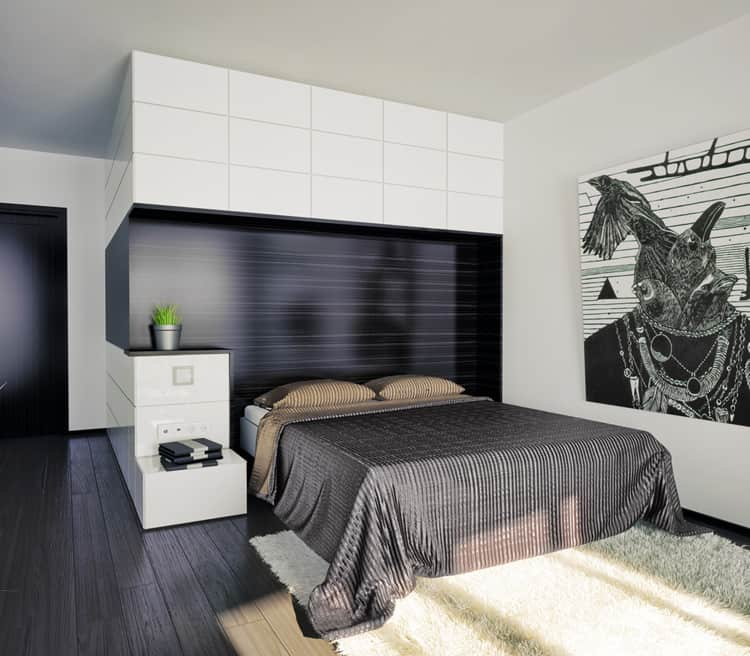 38 Black and White Bedrooms 185
