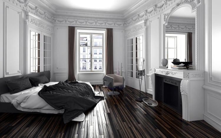 38 Black and White Bedrooms 200