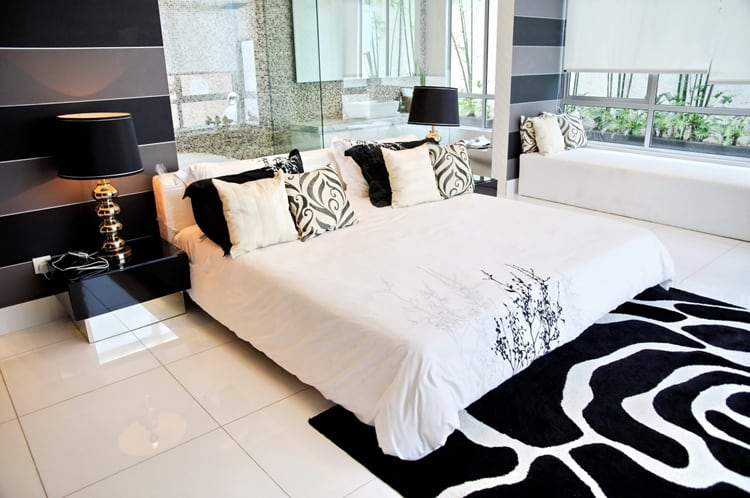 38 Black and White Bedrooms 203