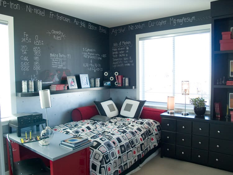 41 Fantastic Red and Black Bedrooms 93