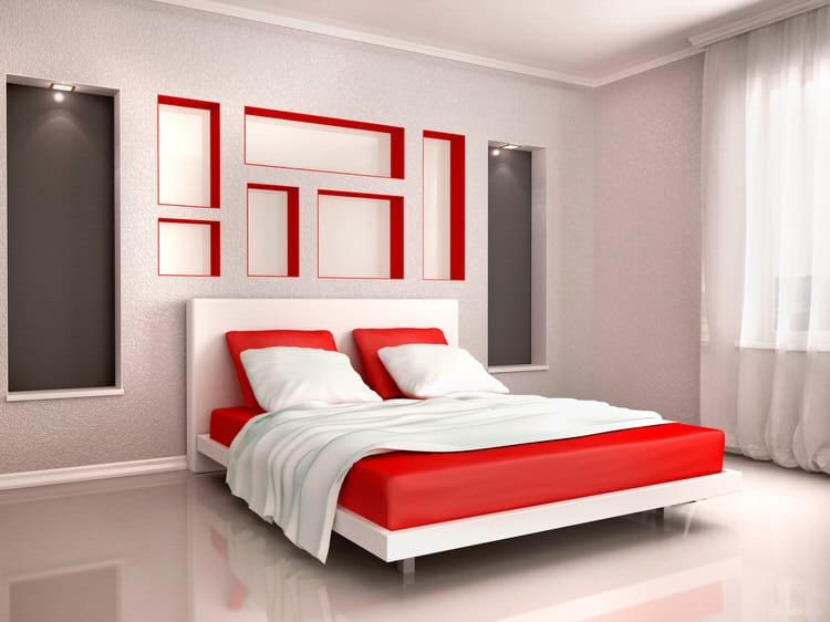 41 Fantastic Red and Black Bedrooms 104