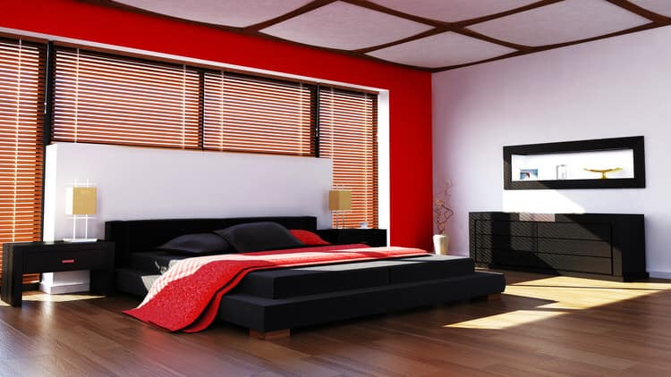 41 Fantastic Red and Black Bedrooms 108