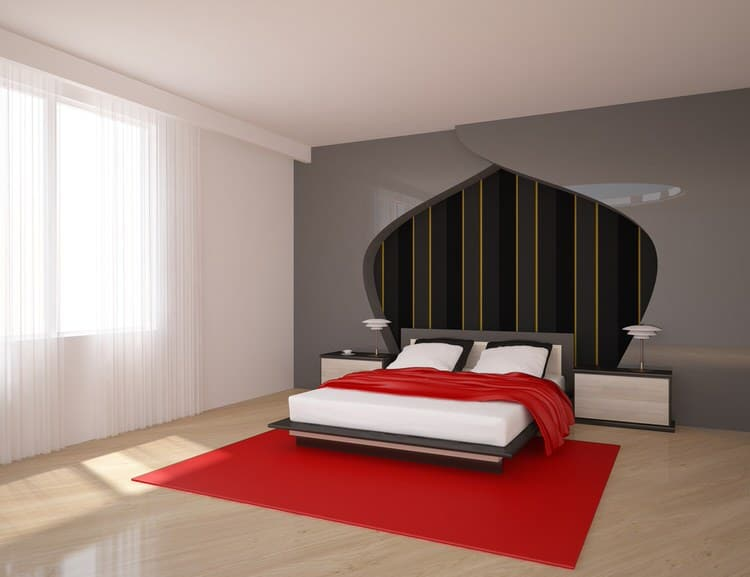 41 Fantastic Red and Black Bedrooms 124