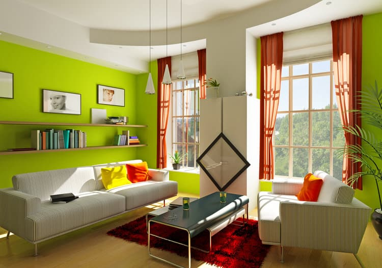 Colorful living room-45 best Samples 105