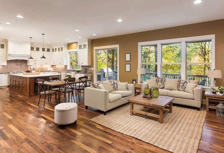 30 Living Rooms With Hardwood Floors 127