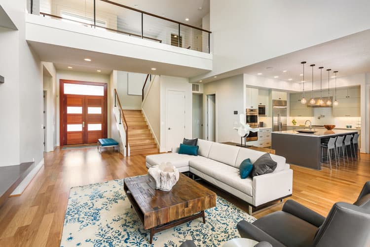 30 Living Rooms With Hardwood Floors 133
