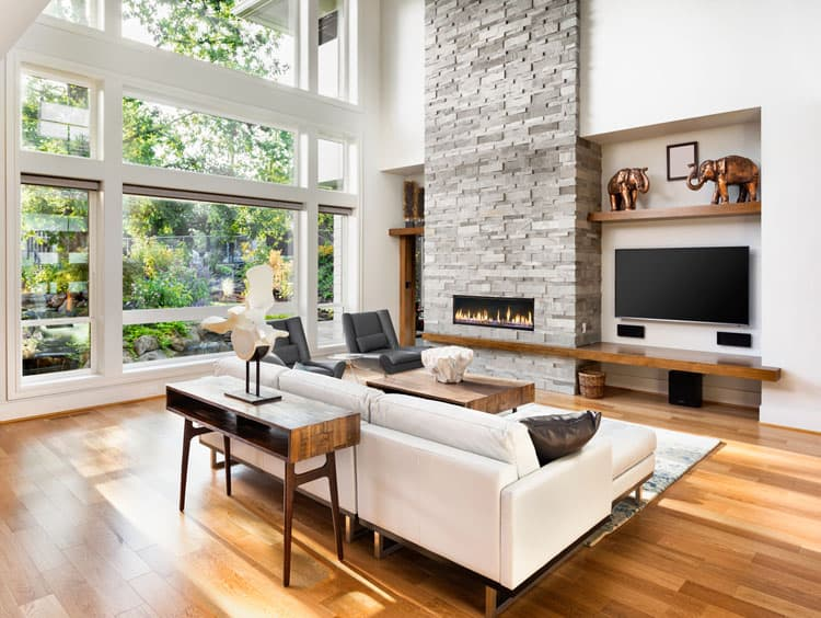 30 Living Rooms With Hardwood Floors 112