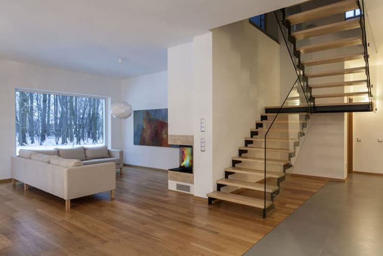Living Rooms With Stairs 9
