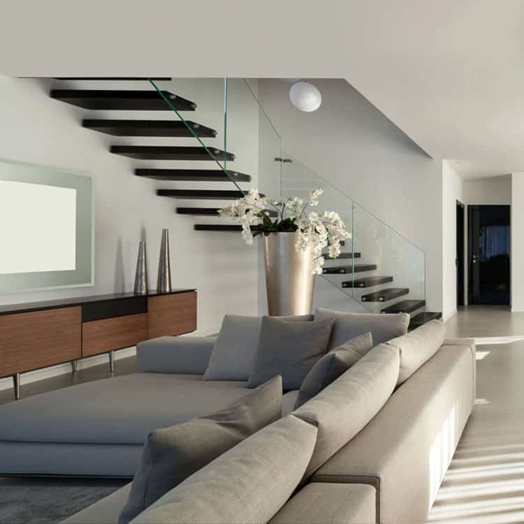 Living Rooms With Stairs 13