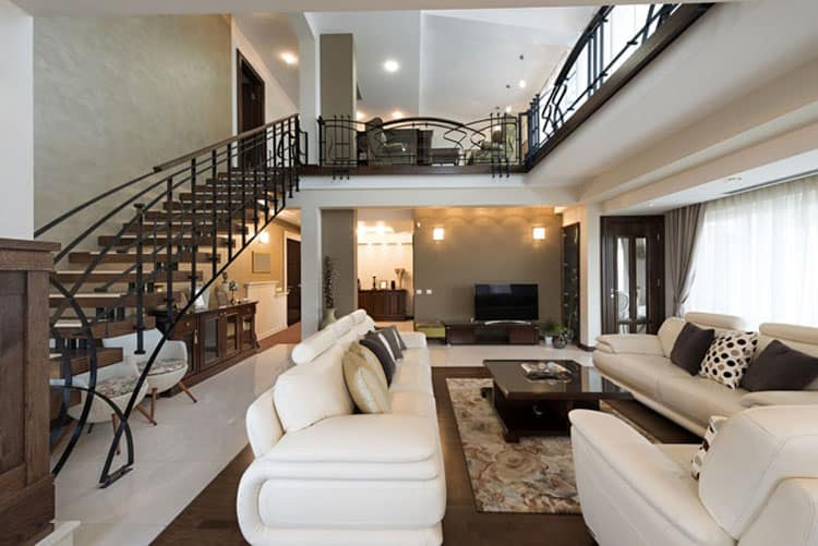 Living Rooms With Stairs 4