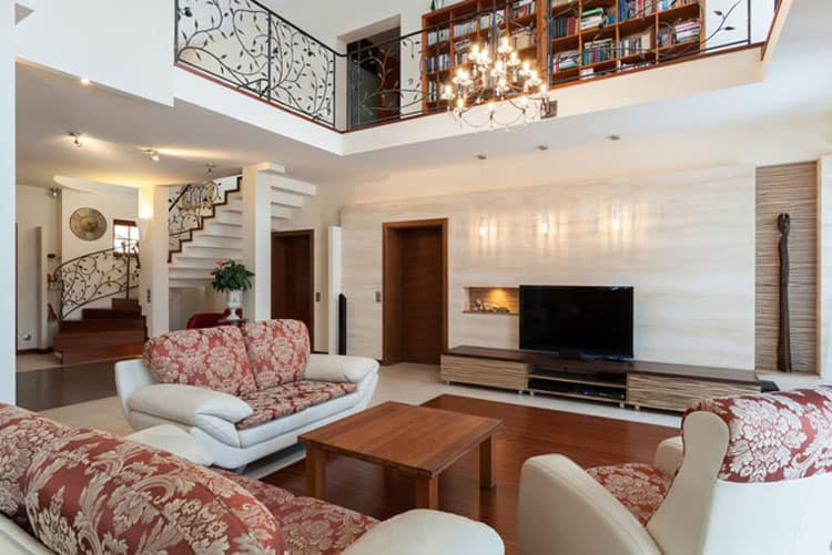 Living Rooms With Stairs 7
