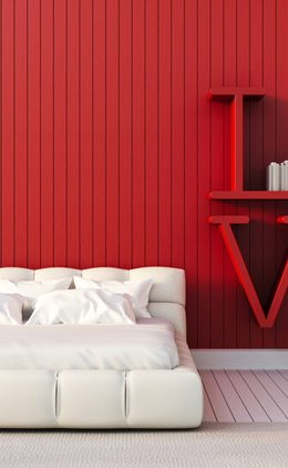 20 Red Bedrooms